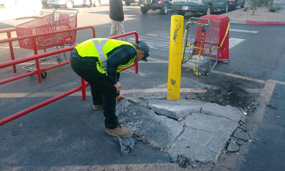 commercial bollard repair las vegas